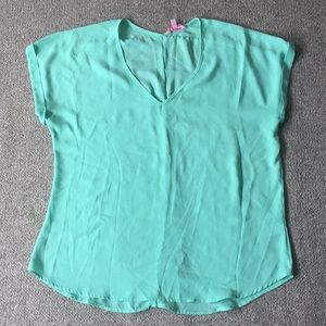 Candies Sheer Teal T-shirt